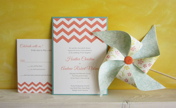 chevron wedding invitation styled photography shoot