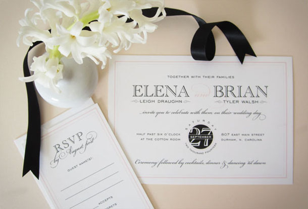 styled shoot: cosmopolitan wedding invitation