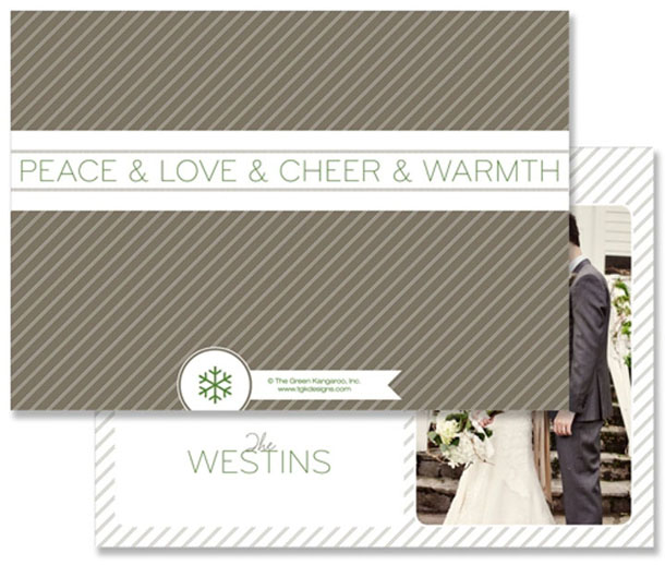 pinstripe holiday card stationery design