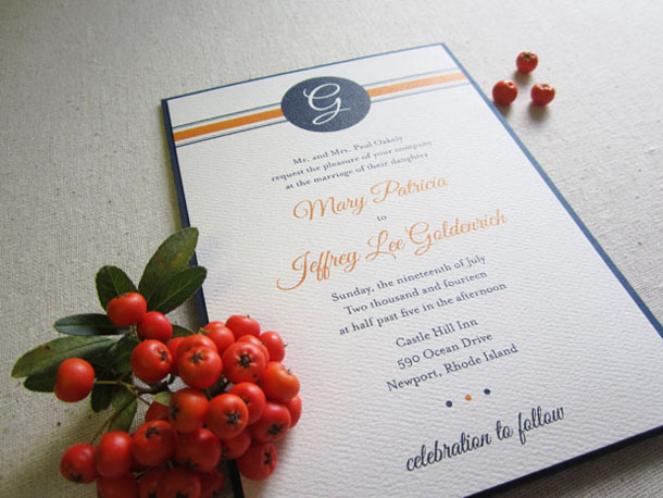 preppy monogram wedding invitation styled shoot